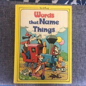 •Disney• 1976 'Words That Name Things' Book